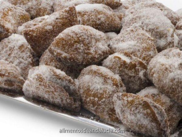 Borrachelos de azucar rellenos cabello de ángel - Dulces El Cobertizo de Alhaurín Dulces Artesanos Málaga