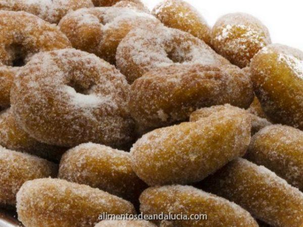 Roscos Fritos de azúcar con baño almibar - Dulces El Cobertizo de Alhaurín Dulces Artesanos Málaga